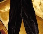 Vintage black velvet pants XS Dominique Canada