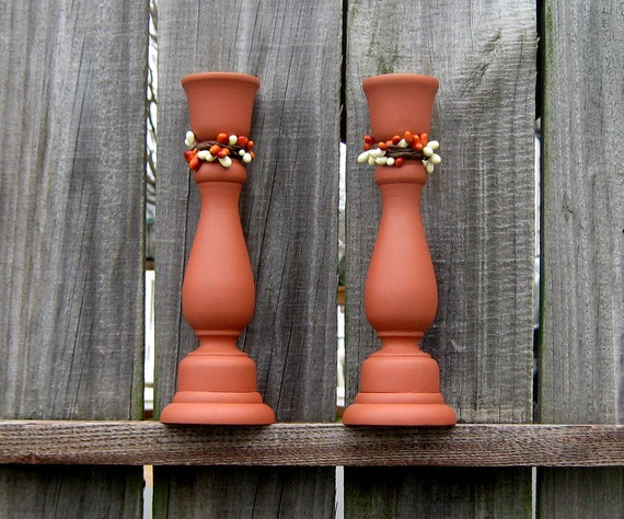 Wood candle holders taper candle holders by for Oxford turned wood candle holders