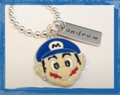 Video Game Jewelry  Hand Stamped Personalized GAMER  Necklace for Kids