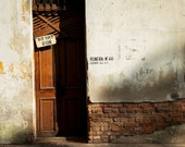 No Hay Ron - There is no Rum - Havana Cuba - Cuban Art Photography - Vintage - Doors - Sign - Brick - Shop - Bar - Man - Office - street