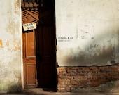 No Hay Ron - There is no Rum - Havana Cuba - Cuban Art Photography - Vintage - Doors - Sign - Brick - Shop - Bar - Man - Office - street