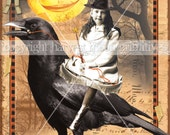 MIDNIGHT RIDE - Primitive Halloween Postcards