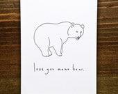 Love You Mama Bear - Handmade Card