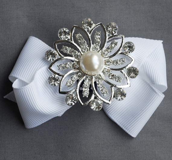 Rhinestone Brooch Component Crystal Pearl Flower Bridal Hair Comb Shoe Clip Pin Wedding Cake Decoration Invitation Ring BR040