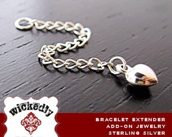 Add On - Sterling Silver - Extender for bracelet - Extender for lobster clasp - Bracelet NOT included