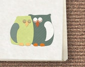 Paper goods, Owls Stationery set, printable cards, letter paper, envelope, tags, stickers, pdf template, print at home
