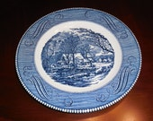 CURRIER & IVES The Old Grist Mill Royal China Dinner PLATE