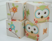 Decorative Wooden Blocks - Birds