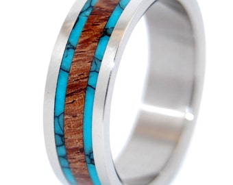 wedding rings, titanium rings, wood rings, mens rings, womens ring, Titanium Wedding Bands, Eco-Friendly Rings - DOCK