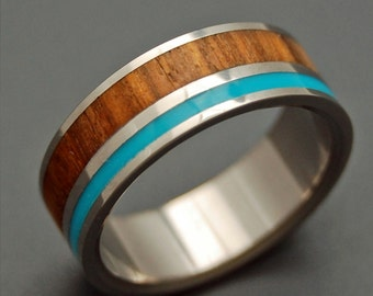 Wooden Wedding Rings, titanium ring, titanium wedding rings, Eco-friendly rings, mens ring, womens rings, wood rings - WOODED COVE