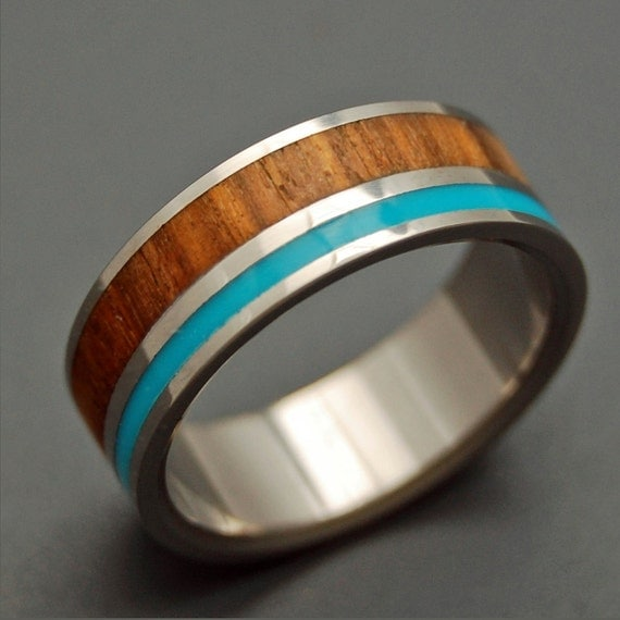Wooded Cove Wooden Wedding Rings By Minterandrichterdes On