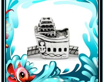 Cruise Shipe Charm - Fits European Style Bracelets