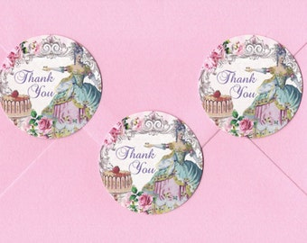 French Style Stickers, Marie Stickers, Marie Antoinette Stickers