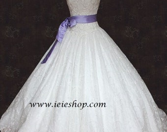 Bride War Movie Strapless Princess Lace Ball Gown Wedding Gown