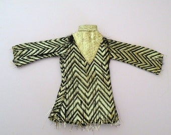 Maddie Mod Doll Guru Gold Number 1720 Tunic Top