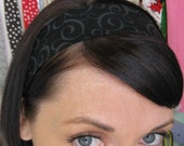 Black w/ Grey Swirls - Stay Put Headband
