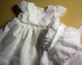 Handmade Baby Girl Bubble Dress with Angel Sleeves