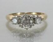 Classic Three Stone Diamond Engagement Ring - 0.50 Carats - Vintage Estate