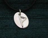 Rune Symbol Thurisaz Fine Silver Pendant
