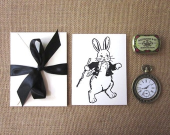 Bunny Rabbit Note Cards Set of 10 with Matching Envelopes