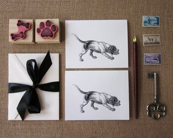 Hunting Dog Note Cards Set of 10 with Matching Envelopes