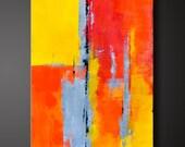 Adobe 2 - 18 x 36 - Abstract Acrylic Painting - Contemporary Wall Art - Original Canvas Modern