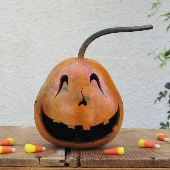 Natural Halloween Decorations: Halloween Gourd Jack O Lantern Natural Fall Pumpkin Decoration