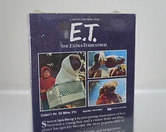 1980's VHS Movie, E.T. The Extra Terrestrial - Unopened VHS Tape in Original Packaging - 80's Classic Sci-Fi Movie from Steven Spielberg