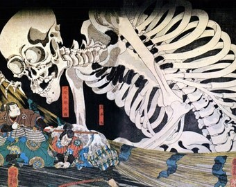 CD 650 Woodblock Art JAPANESE FOLKLORES Demons Ghosts Poster Prints Ukiyo-e Images