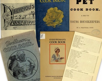 DVD 130 eBooks Vintage Old COOK Books RECIPES Chef c 1900s Meat Desserts Pastries