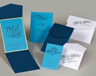 Starry Night Wedding Invitation Suite - 25