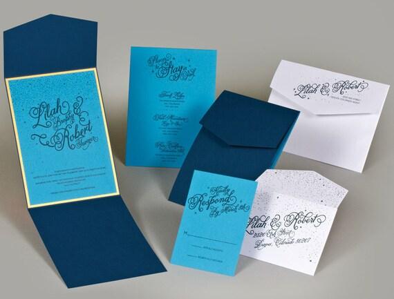Starry Night Wedding Invitation Suite 25