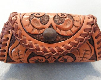Hand Tooled Leather Coin Purse