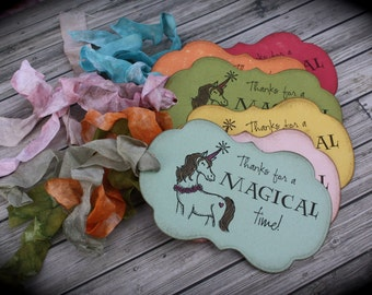 Magical UNICORN thank you tags....set of 5