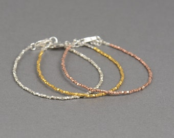 3 gold colors bracelets.Sterling silver.Vermeil and rose vermeil