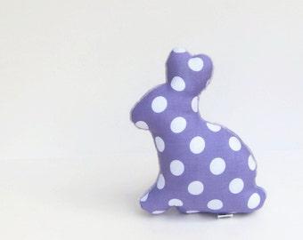 Plush Easter Bunny Lavender Purple Polka Dot Minky