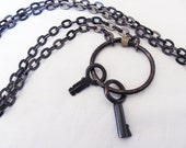 Industrial Chic Metal Key Necklace