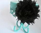 Shabby Black Flower Hair Clip