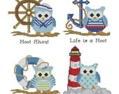 Hooties Nautical Collection Cross Stitch Pattern PDF