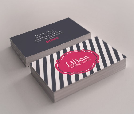 Nautical double sided business card