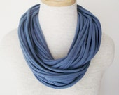 Jersey Tee Circle Scarf - Stone Washed Blue Jean