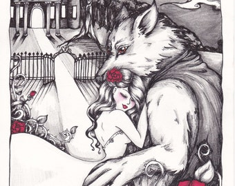 Beauty and the Beast- Art Print