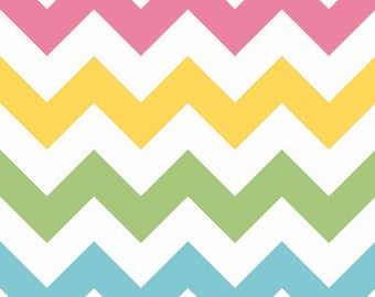 SALE - Riley Blake - Large Chevron in Girl