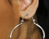 Hoop Earrings Sterling Silver- Ethnic Jewelry