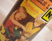 1980s Vintage Lincoln Logs Playskool Building Toy 113 Pieces - CraftySara