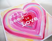 SALE All you need is love...8x8 print