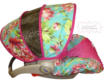 Infant Carseat Cover Bliss Leopard