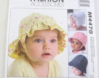 Infant toddler hat pattern McCalls 4478