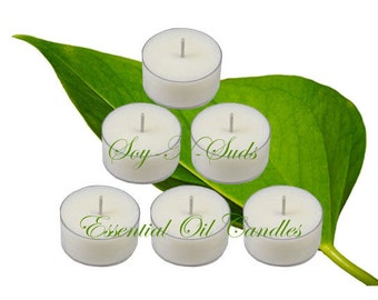 EUCALYPTUS // Essential Oil // Scented Soy Tea Light Candles