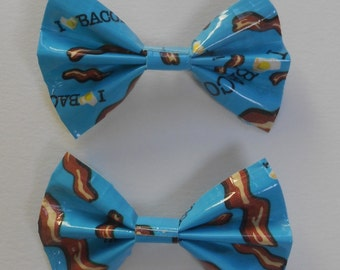 Duct Tape Hair Bows- Bacon